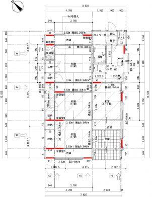 耐震補強プランの例